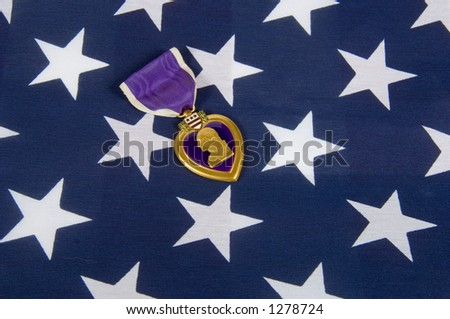 A Purple Heart 01 (memorial day series) - stock photo