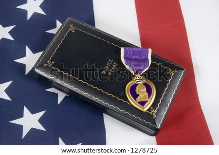 A Purple Heart 02 (memorial day series) - stock photo
