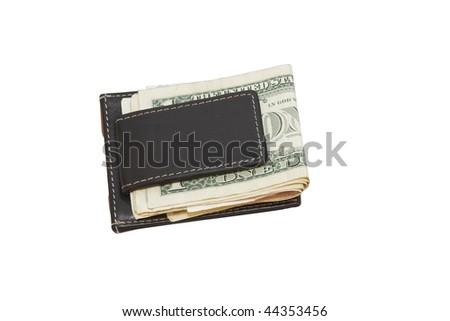 a purse with dollars and euros