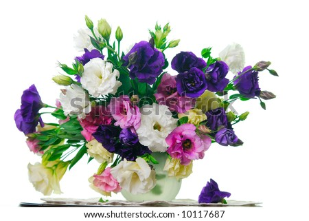 a put of flowers - stock photo
