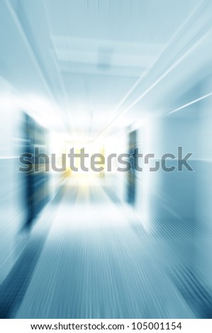 A quick walk Modern Hotel Channel - stock photo
