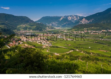 A quiet village with a fantastic view of the north Italy