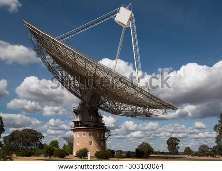 A Radio Telescope, near Parkes, in New South Wales, Australia