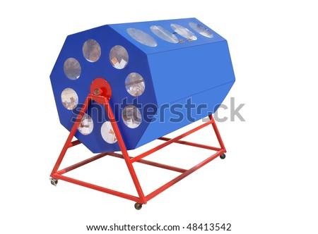 A raffle drum - stock photo