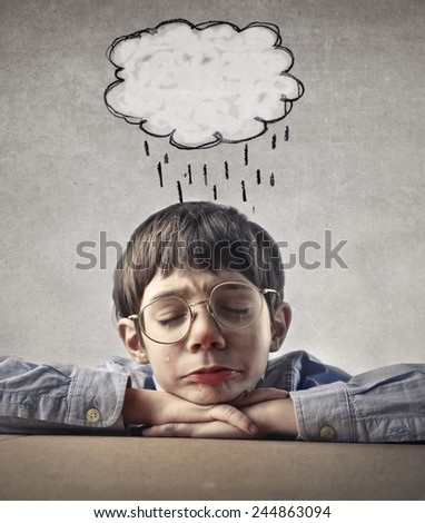 A rainy day  - stock photo