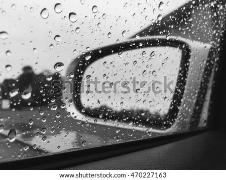 A rainy day, the view from inside of the car. Shot with phone.