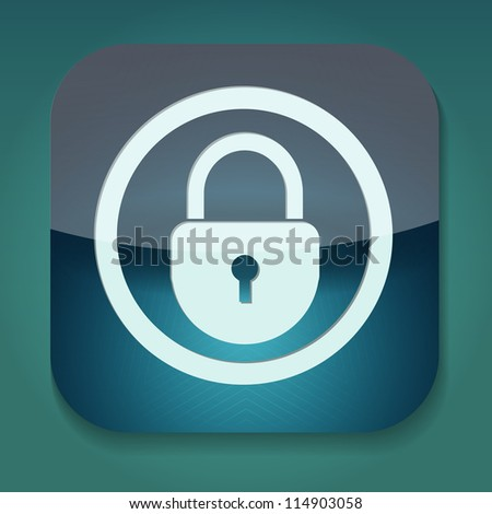 a raster version of icon with lock inside - stock photo