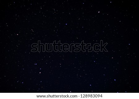 A real dark night sky with plenty of stars - stock photo