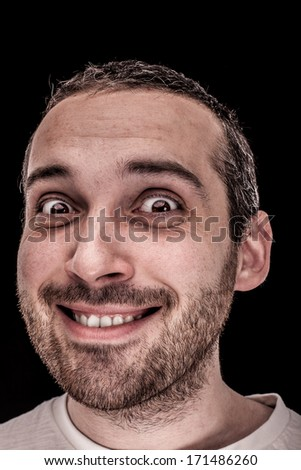 A real funny face - stock photo
