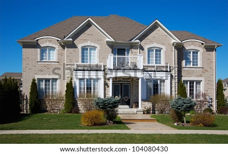 A Really Expensive Home in Suburban Area in Ontario, Canada - stock photo