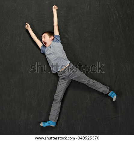 A really happy boy - stock photo