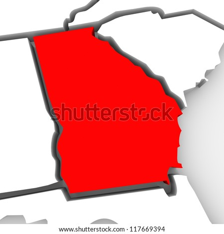 Georgia Map Stock Images RoyaltyFree Images Vectors Shutterstock - Georgia map outline