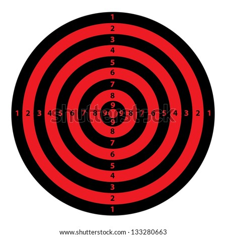 A Red and Black Target