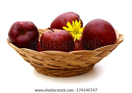 A red apple basket