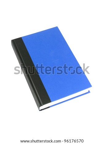 A red book isolated against a white background - stock photo