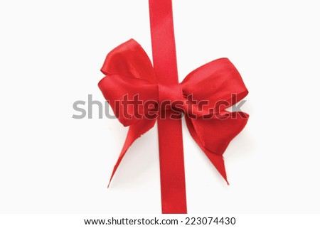 A red bow - stock photo