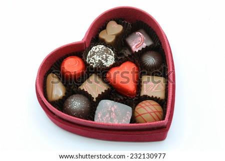 Một hộp màu đỏ của valentine sô cô la cho một người đặc biệt.