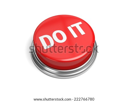 A red button with the word do it on it - stock photo