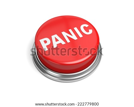 A red button with the word panic on it