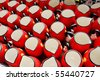 a red cup for home furnishings and kitchen use - stock photo