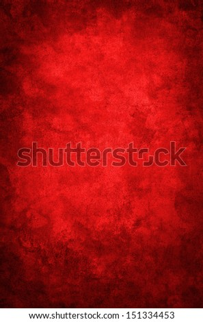 A red grunge paper background with a dark vignette.  Image displays a distinct grain texture at 100 percent.