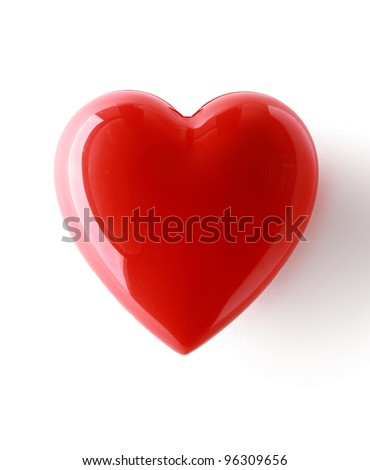 A red heart isolated on white background