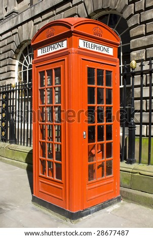 A Red London Telephone Box