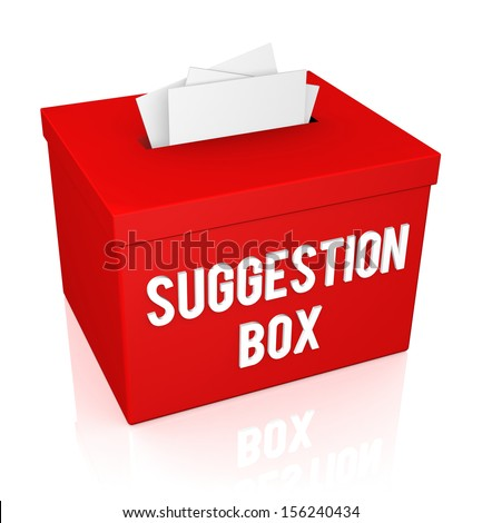 A red Suggestion Box isolated on white background - stock photo