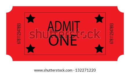 A Red Ticket - stock photo