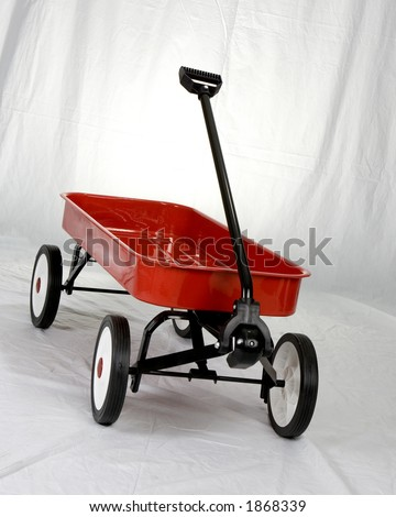 A Red Wagon - stock photo