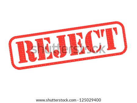A Reject stamp over a white background. - stock photo