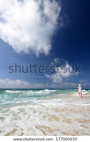 A relaxed woman. - stock photo