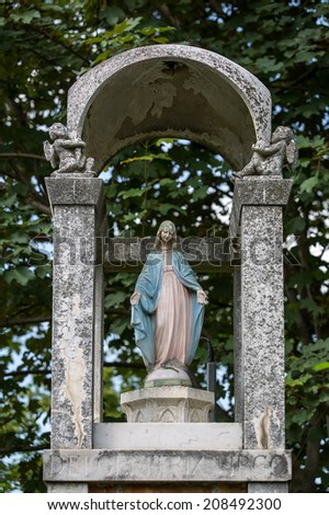A religious image in one of the provinces of Tuscany, Italy - stock photo