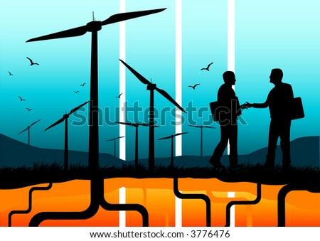 A renewable energy concept. - stock photo