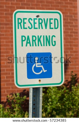 A reserved parking sign - stock photo