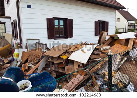 a residential building is cleared when you move. - stock photo