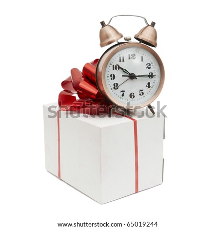 A retro clock with gift