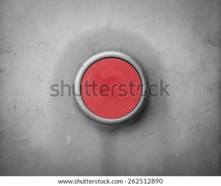 A Retro Filtered Image Of A Blank Red Industrial Button - stock photo