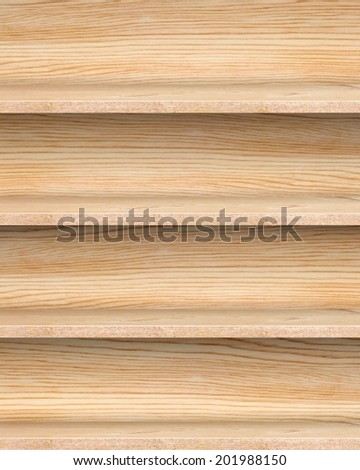 A retro shelf - stock photo