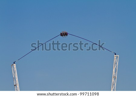 A reverse Bungee in amusement - stock photo
