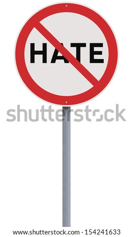 A road sign against Hate