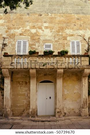 A Romeo and Juliet type balcony - stock photo