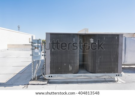 A rooftop heating and cooling system. - stock photo