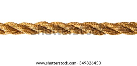 a rope is isolated on a white background