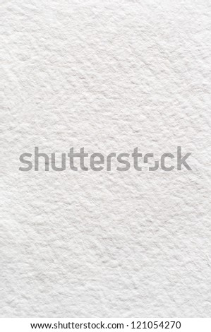 A rough texture background of absorbent white watercolour (watercolor) paper. - stock photo