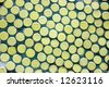 A round shape tiles of mosaic arts - stock photo