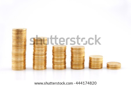 A row of coins