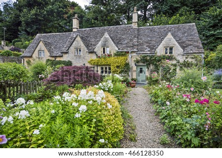 A row of cottages in Bibury, Gloucestershire, England