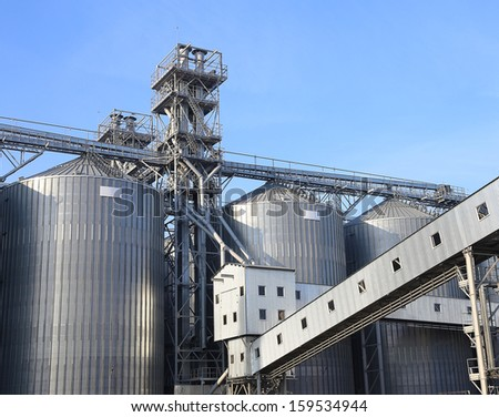 A row of granaries for storing wheat and other cereal grains