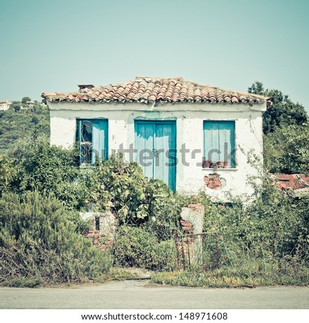 A run down cottage in Skiathos, Greece